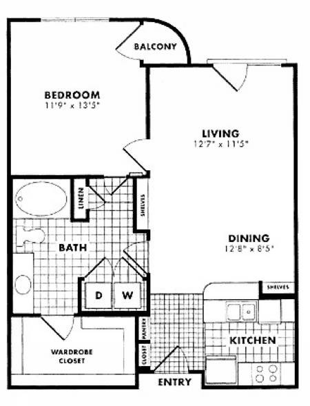 772 sq. ft. Holden floor plan