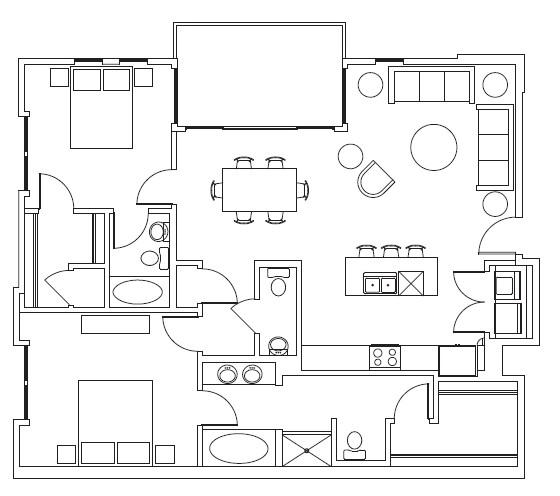 1,308 sq. ft. Heritage floor plan