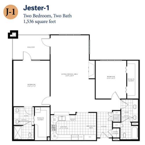1,536 sq. ft. Jester 1 floor plan