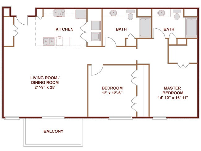 1,276 sq. ft. to 1,281 sq. ft. CANADIAN floor plan