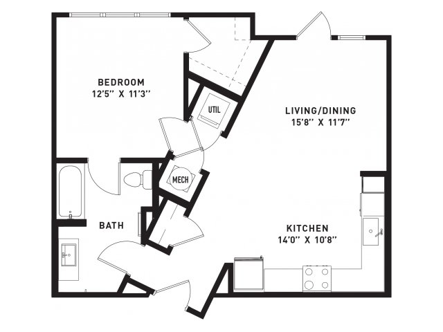 726 sq. ft. A7Alt floor plan
