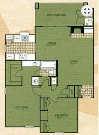 908 sq. ft. Pioneer Trial floor plan