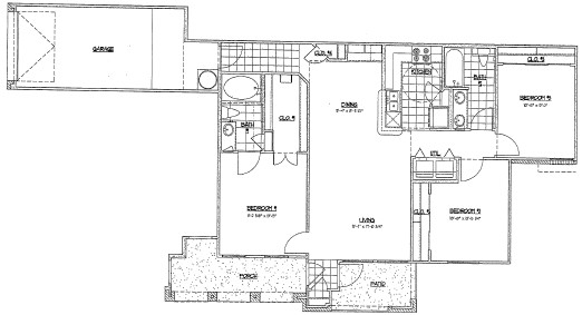 1,210 sq. ft. G1/60% floor plan