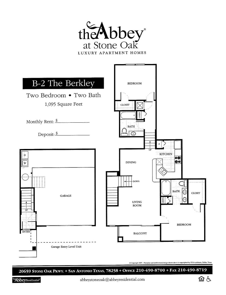 1,095 sq. ft. Berkley floor plan