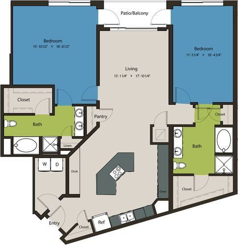 1,661 sq. ft. B9A floor plan
