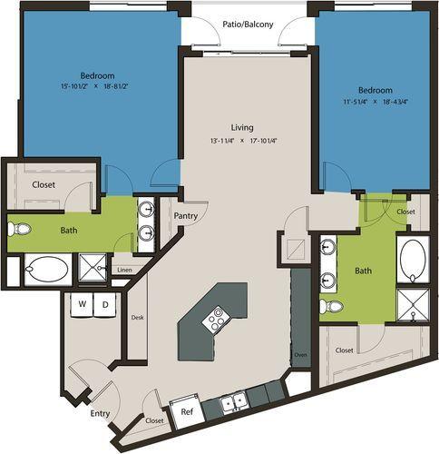 1,661 sq. ft. B9A floor plan