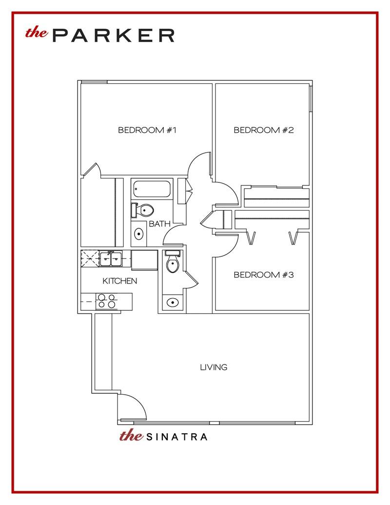 1,009 sq. ft. Sinatra floor plan