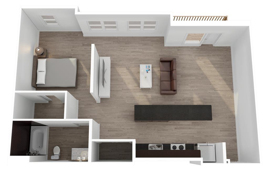 808 sq. ft. to 928 sq. ft. Martel floor plan