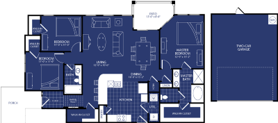 1,537 sq. ft. Lunar floor plan