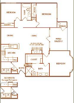 1,301 sq. ft. C1-Briargrove floor plan