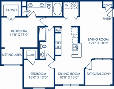 1,130 sq. ft. G floor plan
