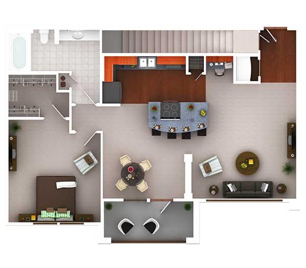 818 sq. ft. Ag4.1 floor plan