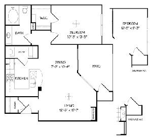 732 sq. ft. A1/Bella Vista floor plan