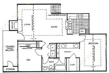 858 sq. ft. A4 floor plan