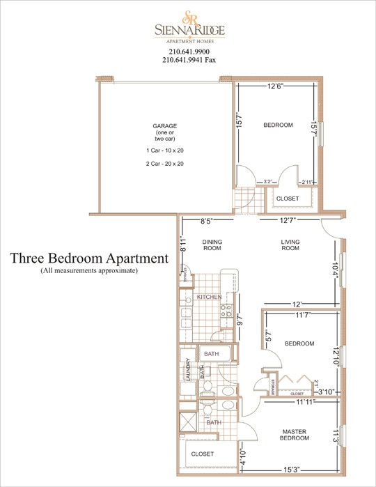 1,300 sq. ft. to 1,700 sq. ft. Monterrey floor plan