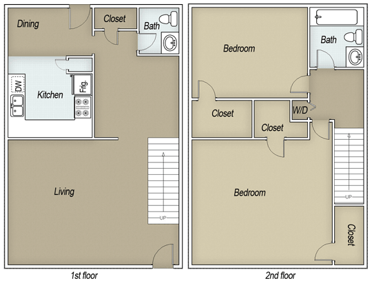 1,331 sq. ft. B15J floor plan