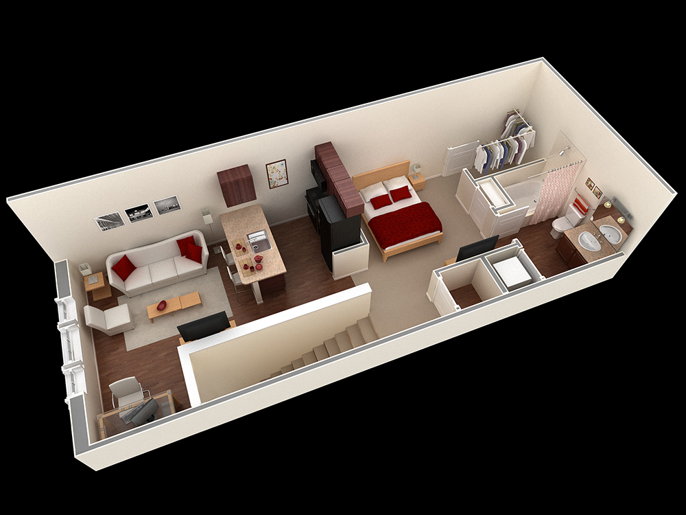 629 sq. ft. Henley floor plan