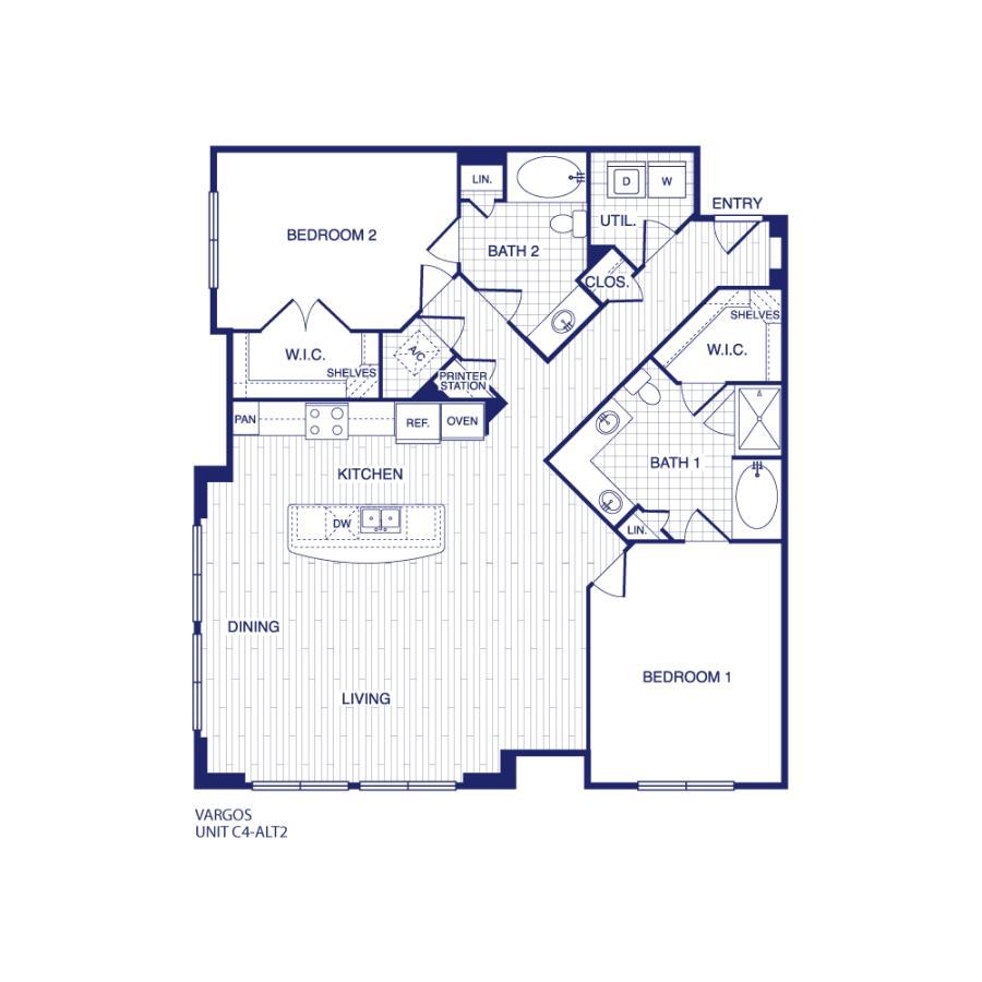1,418 sq. ft. C4 ALT 2 floor plan