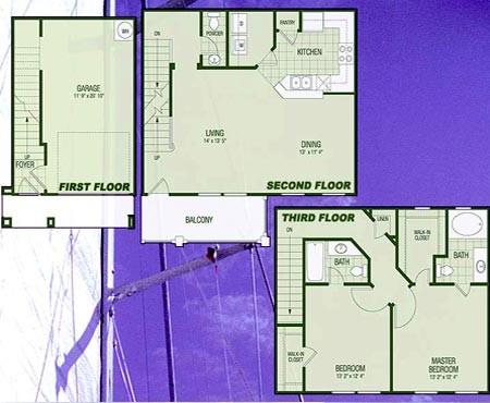 1,385 sq. ft. B3B Bona Vista floor plan
