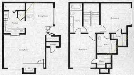 935 sq. ft. SB2 floor plan