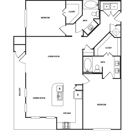 1,356 sq. ft. B3A floor plan