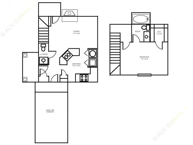 789 sq. ft. Warwick floor plan