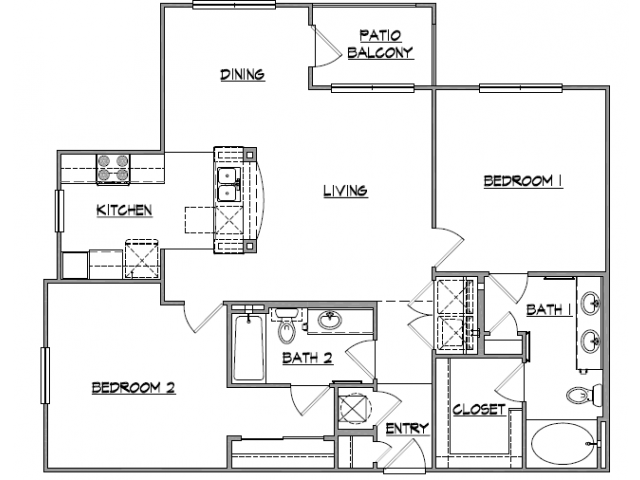 1,219 sq. ft. Moran floor plan