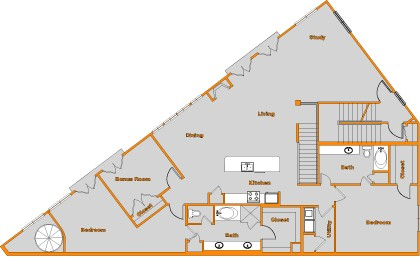 2,209 sq. ft. FLAT 3 floor plan