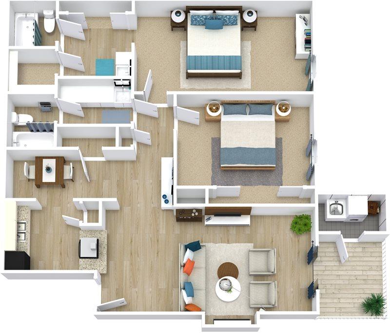 1,048 sq. ft. Kathie floor plan