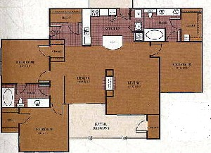 1,477 sq. ft. C2/TRAVIS floor plan