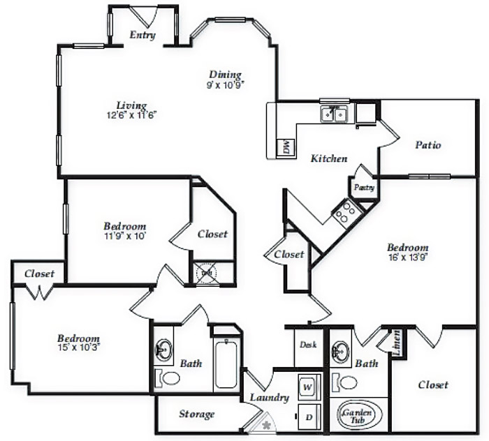 1,447 sq. ft. to 1,523 sq. ft. C1 floor plan