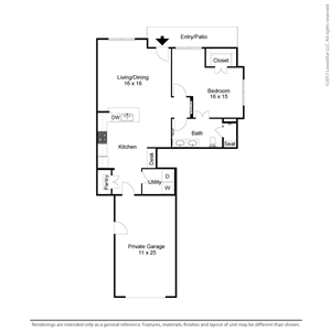 930 sq. ft. A1TH floor plan