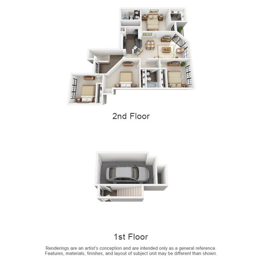 1,407 sq. ft. El Rincon floor plan