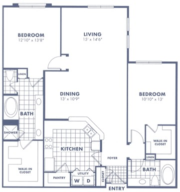 1,538 sq. ft. B1b floor plan