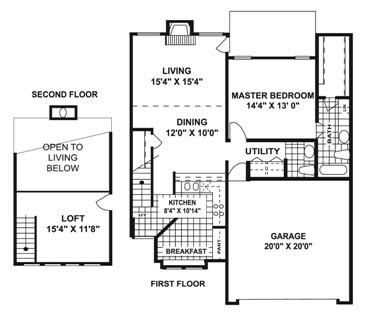 1,188 sq. ft. L2 floor plan