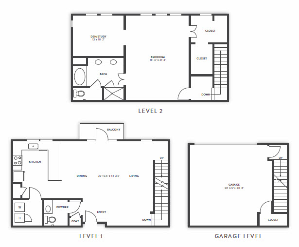 1,672 sq. ft. B6 floor plan