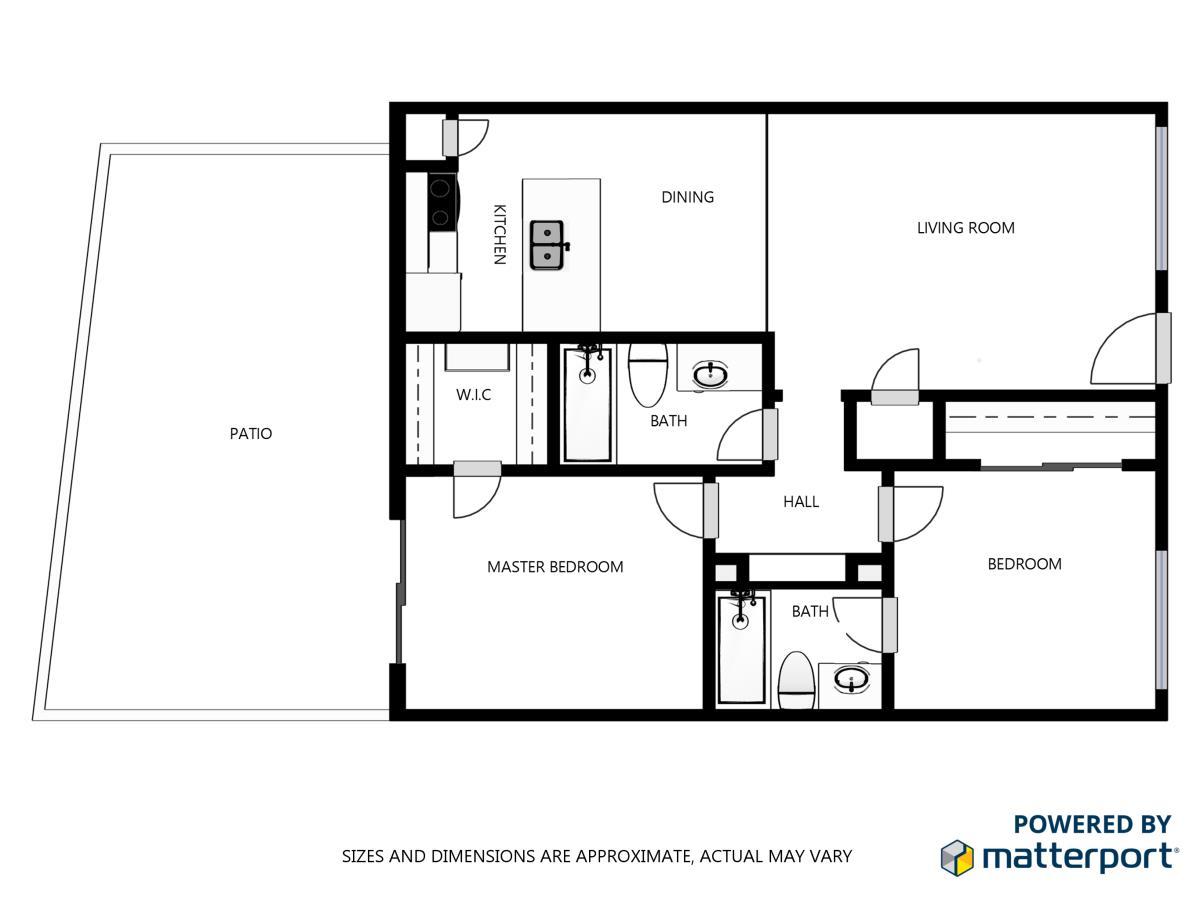 842 sq. ft. floor plan