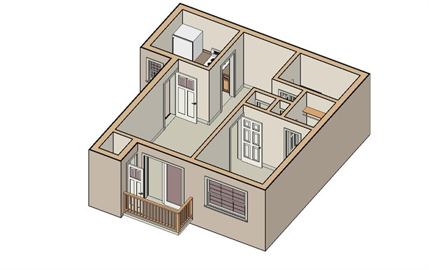 600 sq. ft. San Marc floor plan