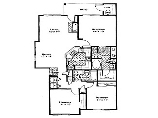 1,370 sq. ft. Magnolia floor plan