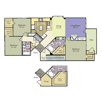1,377 sq. ft. Sherman - C1 I floor plan