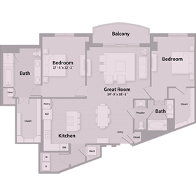 1,732 sq. ft. E6 floor plan