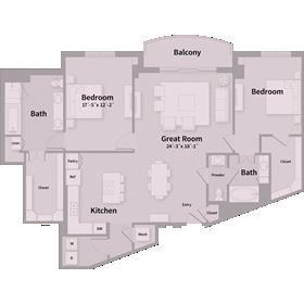 1,732 sq. ft. E6 floor plan