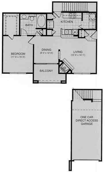 792 sq. ft. Lucerne floor plan