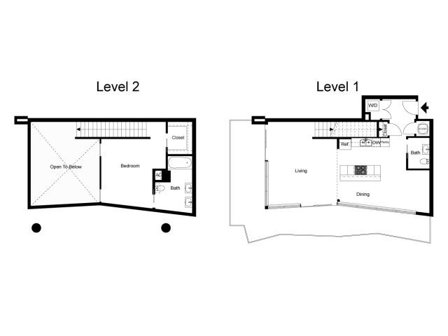 1,193 sq. ft. Loft 2A floor plan