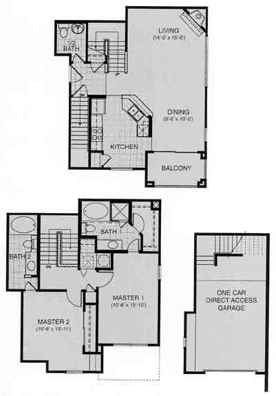 1,317 sq. ft. Zermatt floor plan