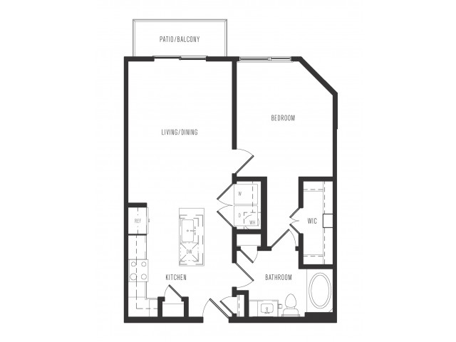 708 sq. ft. A1 Alt floor plan