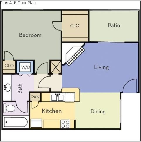 650 sq. ft. Birch floor plan