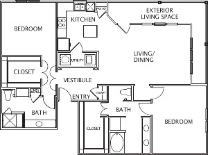 1,625 sq. ft. Gracia floor plan
