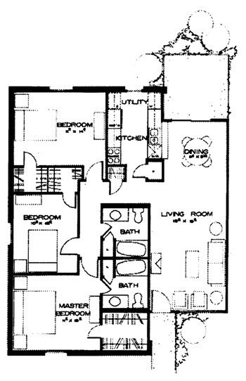 1,287 sq. ft. Playa Del Carmen floor plan