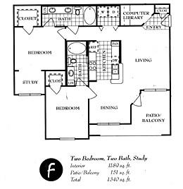 1,226 sq. ft. F floor plan